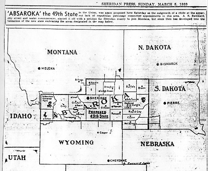 The State Of Absaroka An Outlandish Plan But A Fun