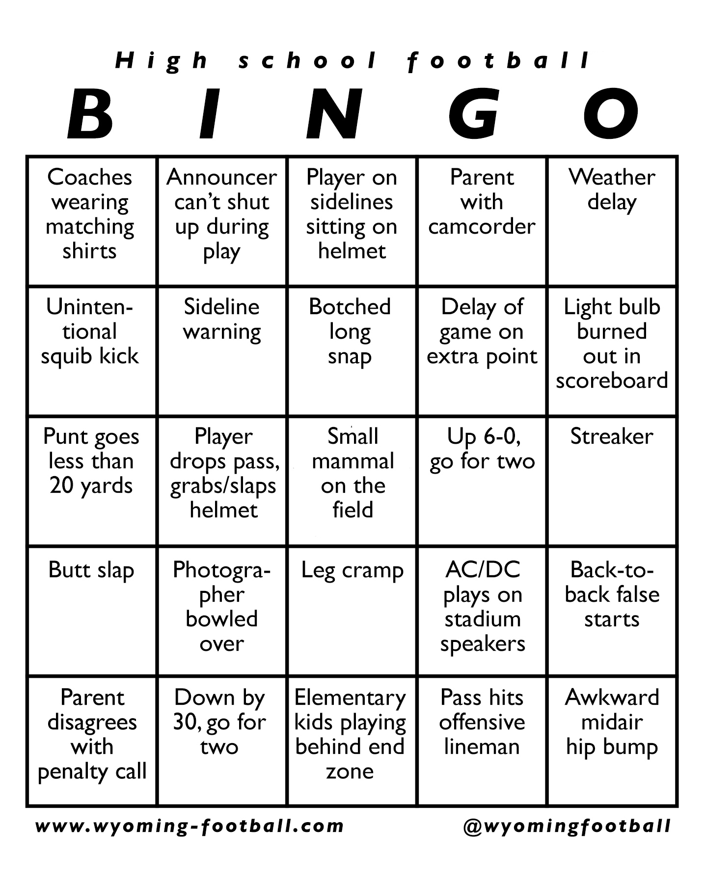 Footballbingo on ice breaker bingo free printable
